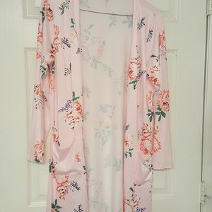 pink floral cover up xl
